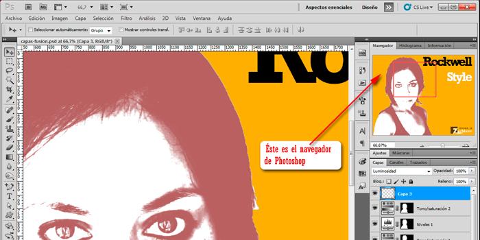 El interface de Photoshop CS5