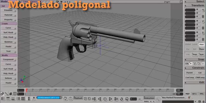 Modelando un Colt 45 con Softimage. Modelado, parte 2