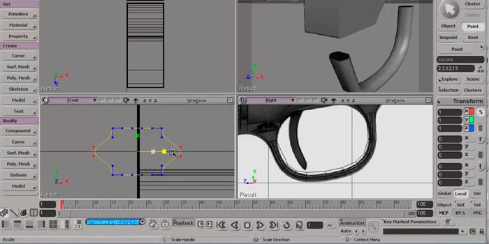 Modelando un Colt 45 con Softimage. Rotoscopia, curvas y extrusión