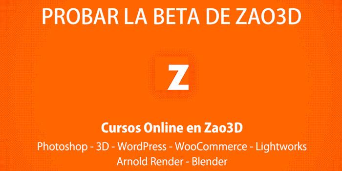 La versión beta de Zao3D empieza esta semana