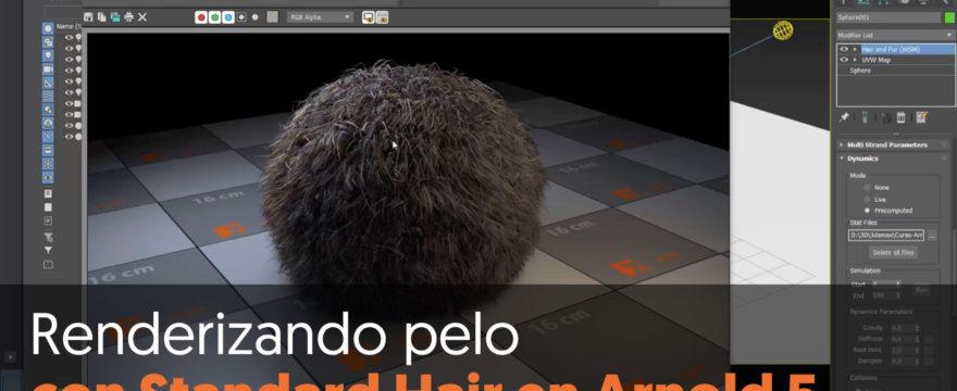 Renderizando pelo con Standard Hair en Arnold 5