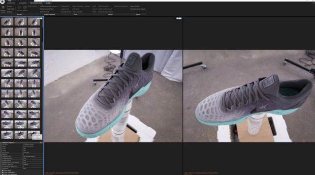 Escaneando zapatilla deportiva de Nike con Capturing Reality